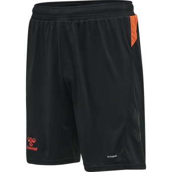 hmlACTION SHORTS, BLACK/FIESTA, packshot