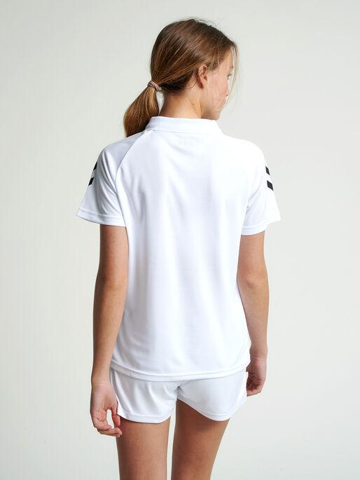 CORE FUNCTIONAL POLO WOMAN, WHITE, model