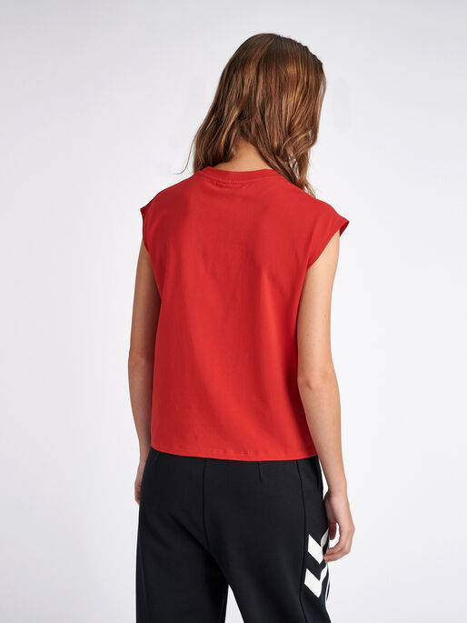 hmlLOKAL T-SHIRT S/L, TRUE RED, model