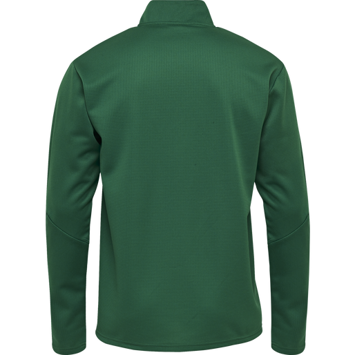 hmlAUTHENTIC KIDS HALF ZIP SWEATSHIRT, EVERGREEN, packshot