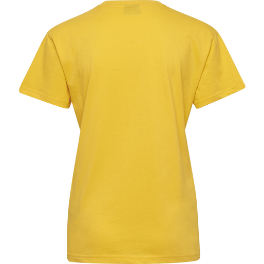 HUMMEL GO COTTON LOGO T-SHIRT WOMAN S/S, SPORTS YELLOW, packshot