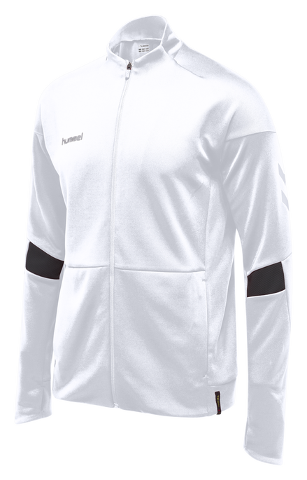 TECH MOVE KIDS POLY ZIP JACKET, WHITE, packshot