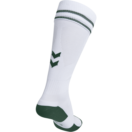 ELEMENT FOOTBALL SOCK , WHITE/EVERGREEN, packshot