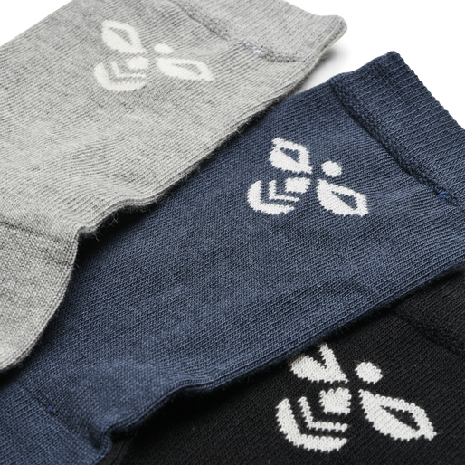 SUTTON 3-PACK SOCK, BLACK/GREY MELANGE/BLUE NIGHTS, packshot