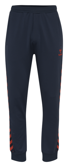 HMLNATHAN PANTS, BLACK IRIS/GRENADINE, packshot