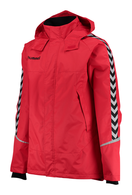 AUTH. CHARGE ALL-WEATHER JACKET, TRUE RED/BLACK, packshot