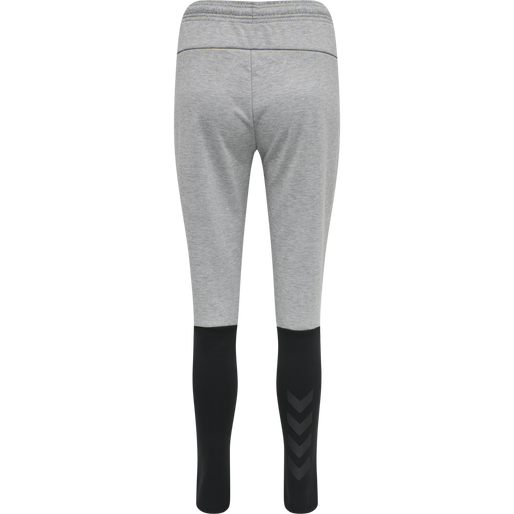 hmlESSI TAPERED PANTS, GREY MELANGE, packshot