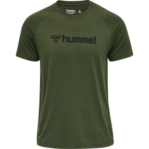 HMLMESI T-SHIRT S/S TEE, FOREST NIGHT, packshot