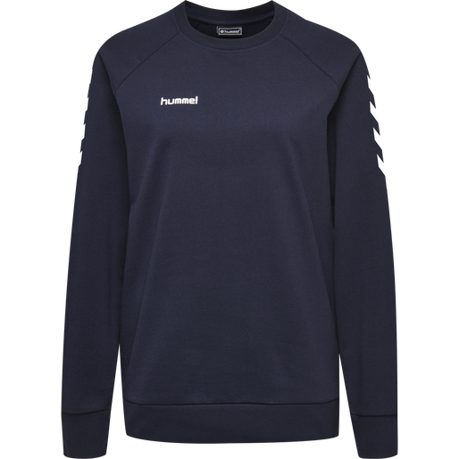 HUMMEL GO COTTON SWEATSHIRT WOMAN, MARINE, packshot