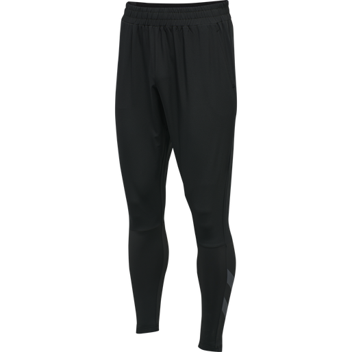 hmlSPIRO TAPERED PANTS, BLACK, packshot