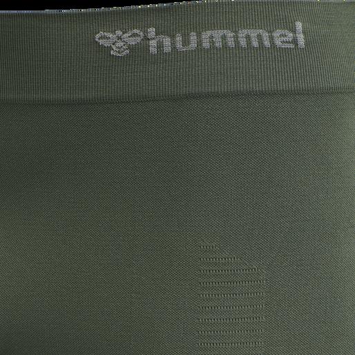 hmlSTROKE SEAMLESS TIGHT SHORTS, THYME, packshot