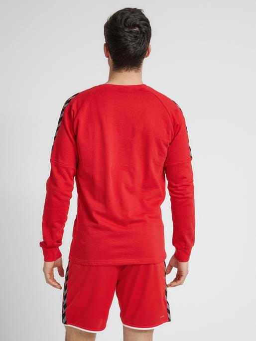 hmlAUTHENTIC TRAINING SWEAT, TRUE RED, model