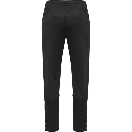 hmlAUTHENTIC POLY PANT, BLACK/WHITE, packshot