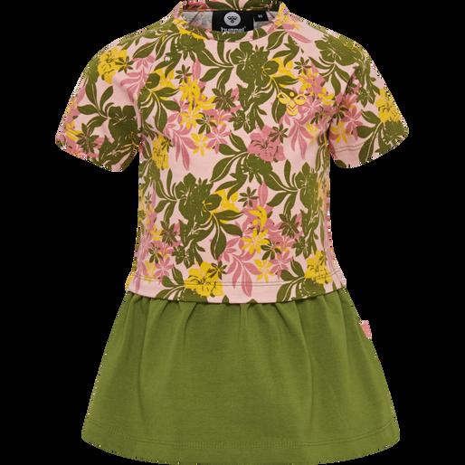 hmlAULI DRESS S/S, CORAL PINK, packshot