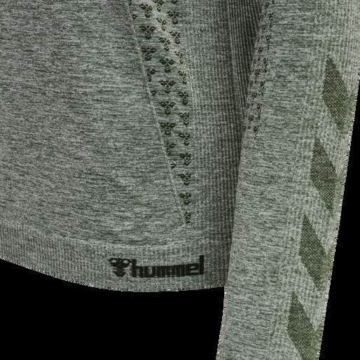 hmlCI SEAMLESS T-SHIRT L/S, THYME MELANGE, packshot
