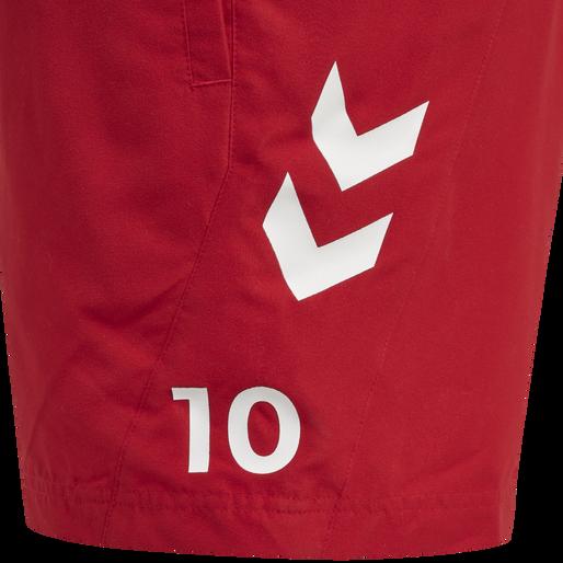 DBU FAN 2020 SWIM SHORTS, TANGO RED, packshot