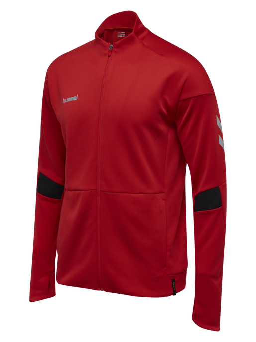 TECH MOVE POLY ZIP JACKET, TRUE RED, packshot