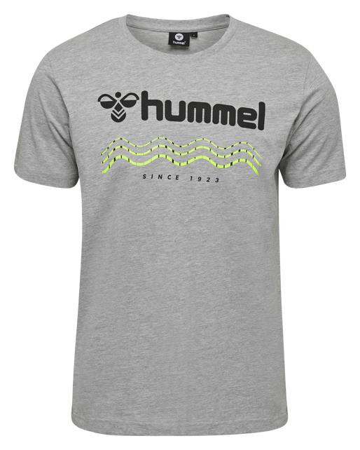 hmlSPLASH T-SHIRT S/S, GREY MELANGE, packshot