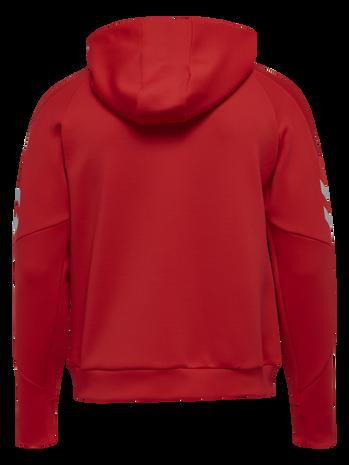 TECH MOVE KIDS POLY HOODIE, TRUE RED, packshot