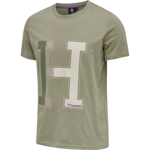 hmlLANEWAY T-SHIRT, VETIVER, packshot