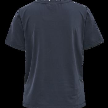 hmlSOFIA LOOSE SHORT T-SHIRT, BLUE NIGHTS, packshot