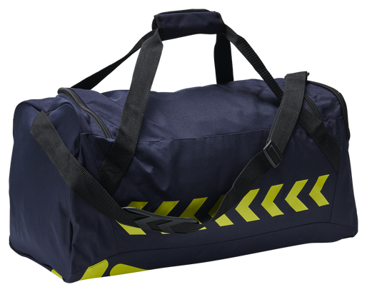 hmlACTION SPORTS BAG, MARINE/SAFETY YELLOW, packshot
