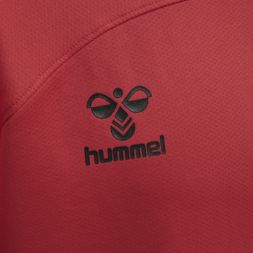 hmlLEAD HALF ZIP KIDS , TRUE RED, packshot