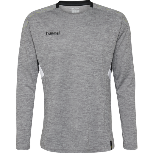 TECH MOVE KIDS JERSEY L/S, GREY MELANGE, packshot