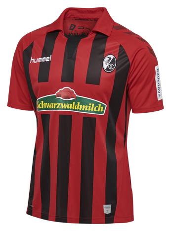 SCF HOME JERSEY SS 19/20, TRUE RED/BLACK, packshot