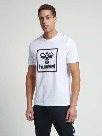 hmlISAM T-SHIRT, WHITE, model