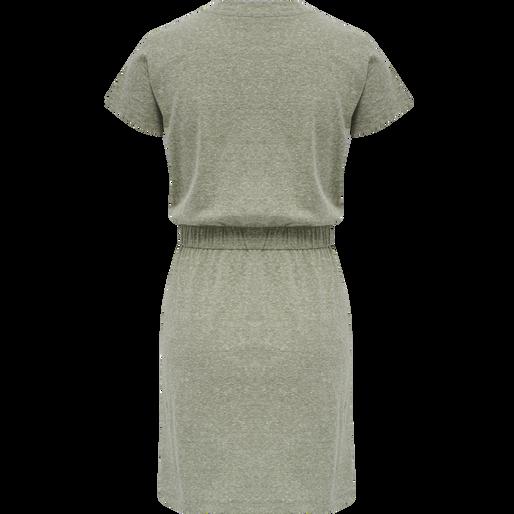 hmlZANDRA DRESS, VETIVER MELANGE, packshot