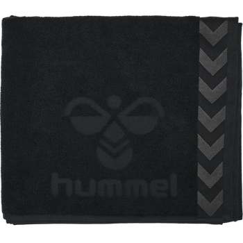 HUMMEL LARGE TOWEL, BLACK, packshot