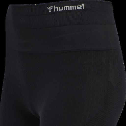 hmlLUNA SEAMLESS HIGH WAIST TIGHTS, BLACK, packshot