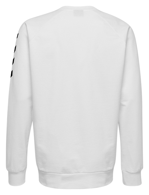 HUMMEL GO COTTON SWEATSHIRT, WHITE, packshot