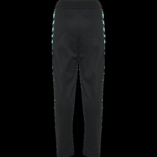 HMLKICK PANTS, BLACK/LAKE BLUE, packshot