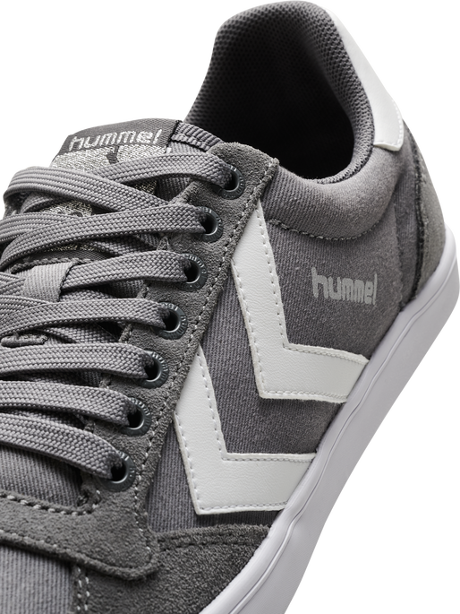 HUMMEL SLIMMER STADIL LOW, CASTLE ROCK/WHITE KH, packshot
