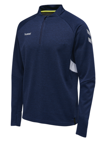 TECH MOVE HALF ZIP SWEATSHIRT, MARINE MELANGE, packshot
