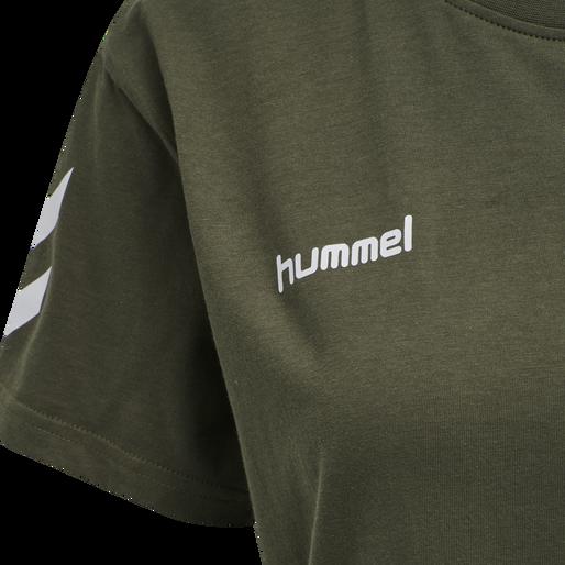 HUMMEL GO COTTON T-SHIRT WOMAN S/S, GRAPE LEAF, packshot