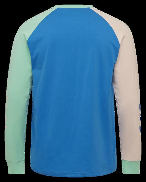 hmlKROVEJ T-SHIRT L/S, BLUE ASTER, packshot