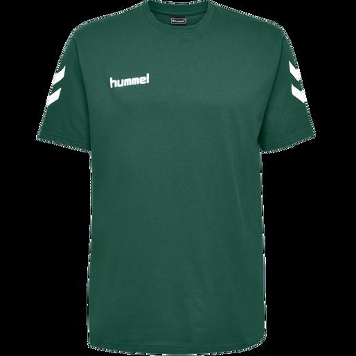 HUMMEL GO COTTON T-SHIRT S/S, EVERGREEN, packshot