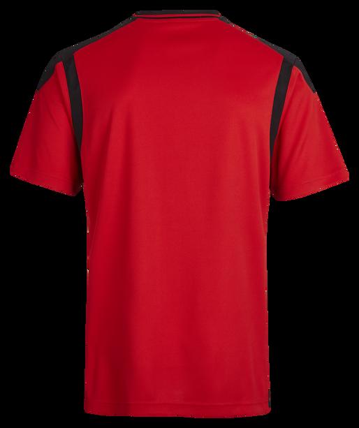 HUMMEL SIRIUS SS JERSEY, TRUE RED/BLACK, packshot