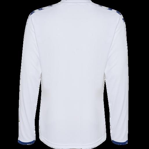 CORE LS POLY JERSEY, WHITE/TRUE BLUE, packshot