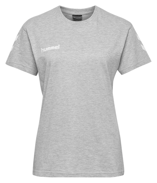 HUMMEL GO COTTON T-SHIRT WOMAN S/S, GREY MELANGE, packshot
