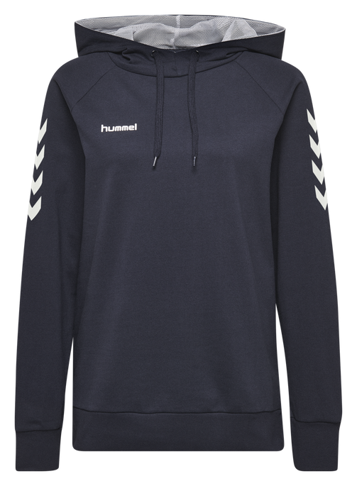 HUMMEL GO COTTON HOODIE WOMAN, MARINE, packshot