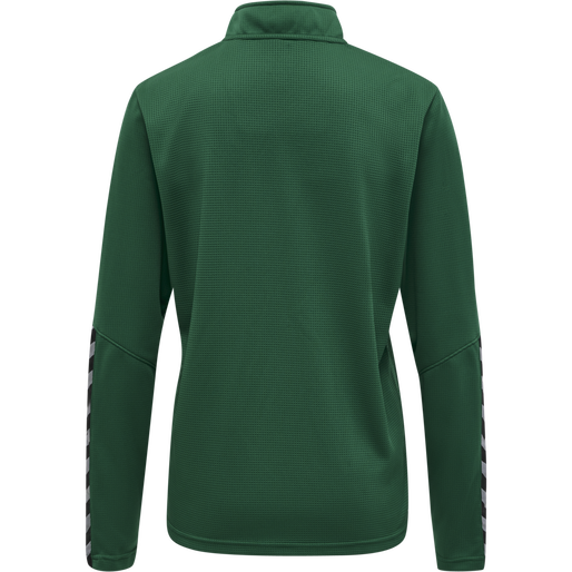 hmlAUTHENTIC HALF ZIP SWEATSHIRT WOMAN, EVERGREEN, packshot
