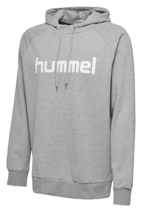 HUMMEL GO KIDS COTTON LOGO HOODIE, GREY MELANGE, packshot