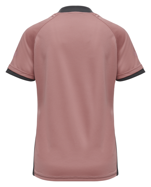hmlACTION JERSEY S/S WOMAN, ASPHALT/DUSTY ROSE, packshot