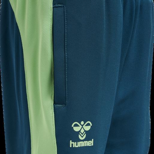 hmlACTION TRAINING PANTS KIDS, BLUE CORAL/GREEN ASH, packshot