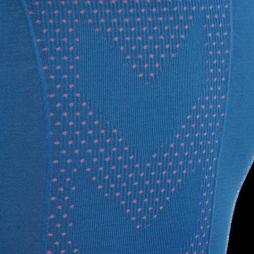 hmlFELICITY SEAMLESS SHORTS, MYKONOS BLUE, packshot
