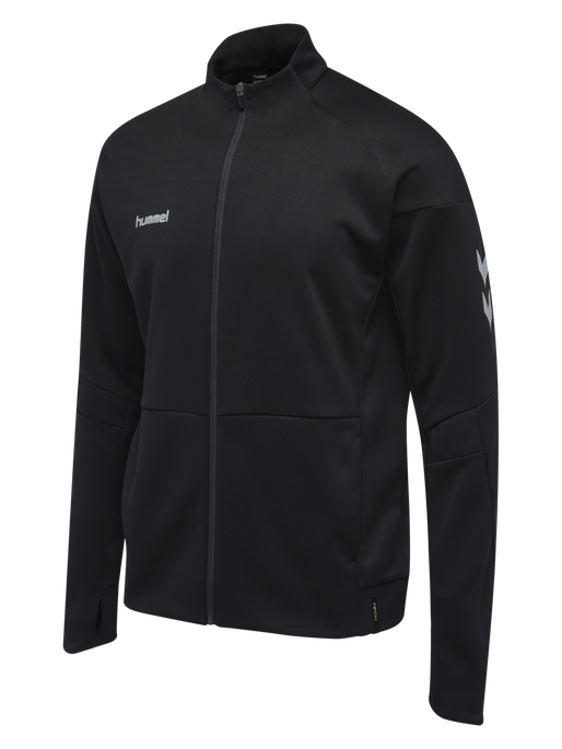 TECH MOVE KIDS POLY ZIP JACKET, BLACK, packshot